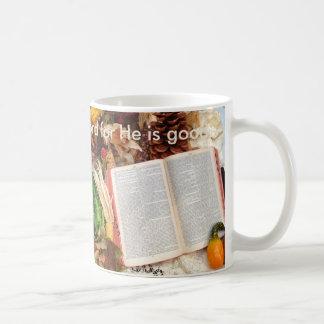 Thanksgiving Harvest and Bible Coffee Mug