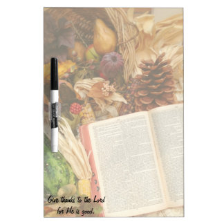 Thanksgiving Harvest and Bible Dry-Erase Boards