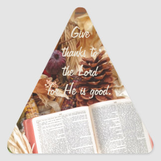 Thanksgiving Harvest and Bible Triangle Sticker