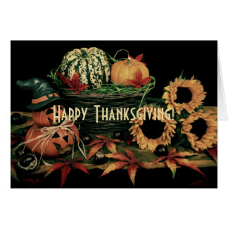 Thanksgiving harvest classic traditional vintage card