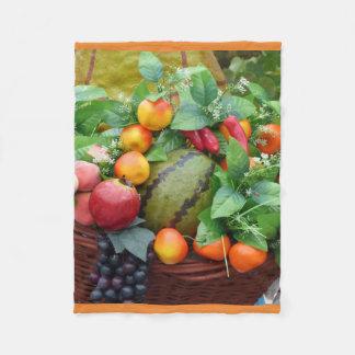 Thanksgiving Harvest Fruit Baske Blanket