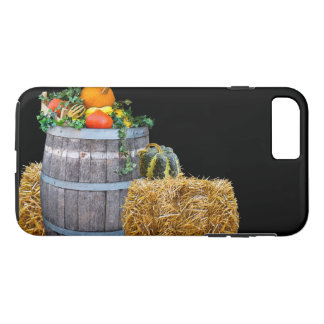 Thanksgiving Harvest Scene with Barrel and Produce iPhone 8 Plus/7 Plus Case