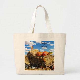 Thanksgiving Harvest Wagon Jumbo Tote Bag
