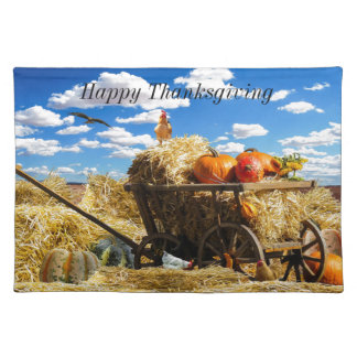 Thanksgiving Harvest Wagon Placemat