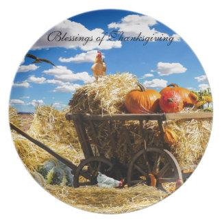Thanksgiving Harvest Wagon Plates