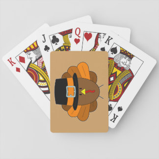 Thanksgiving Hat Turkey - Playing Cards