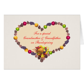 Thanksgiving Heart - Grandmother and Grandfather Card
