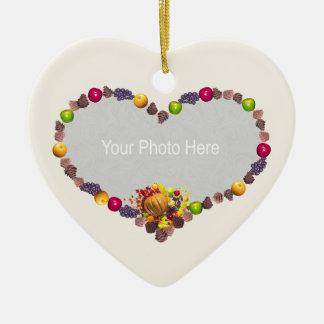 Thanksgiving Heart (photo frame) Ceramic Heart Decoration