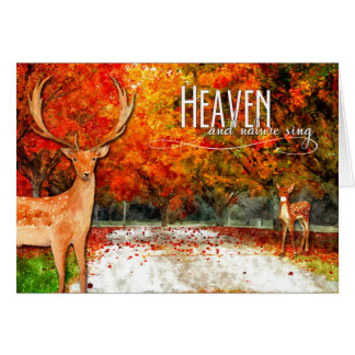 Thanksgiving Heaven and Nature Sing Autumn Forest Card