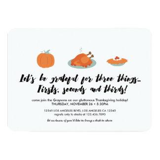 Thanksgiving Helpings Dinner Invitation