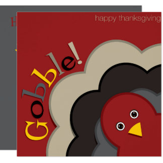 Thanksgiving hiding turkey card