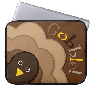 Thanksgiving hiding turkey computer sleeve