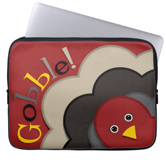Thanksgiving hiding turkey laptop computer sleeve