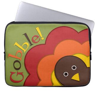 Thanksgiving hiding turkey laptop computer sleeves