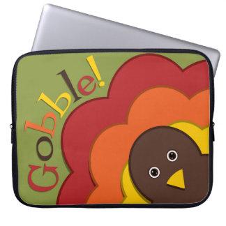 Thanksgiving hiding turkey laptop sleeve