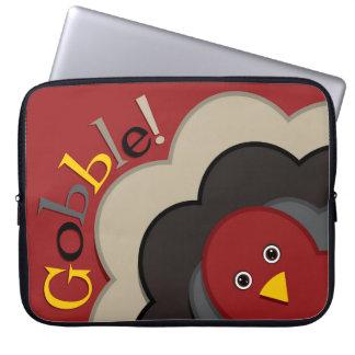 Thanksgiving hiding turkey laptop sleeves