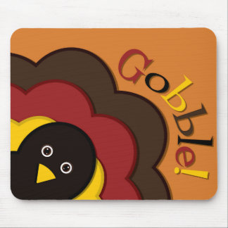 Thanksgiving hiding turkey mouse pad