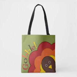 Thanksgiving hiding turkey tote bag