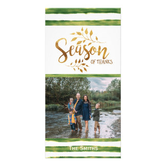Thanksgiving Holiday Photo Card - Straight