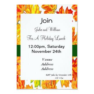 Thanksgiving Holiday, Pumpkin, Squash, Sunflowers 13 Cm X 18 Cm Invitation Card