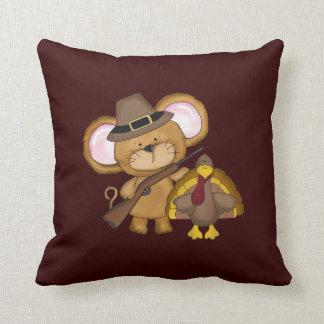 Thanksgiving Holiday Turkey throw pillow