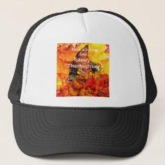 Thanksgiving horn of plenty trucker hat