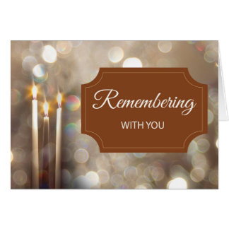 Thanksgiving In Remembrance Candles Card