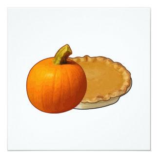 Thanksgiving 5.25x5.25 Square Paper Invitation Card