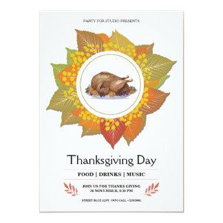 Thanksgiving Invitation Card