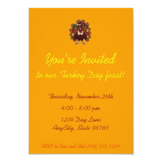 Thanksgiving Invitation - customizable