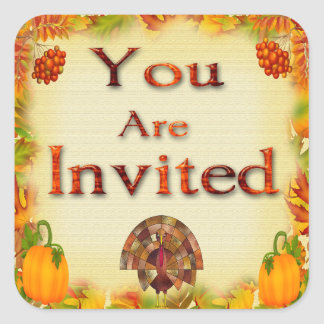 Thanksgiving Invitation Envelope Seals