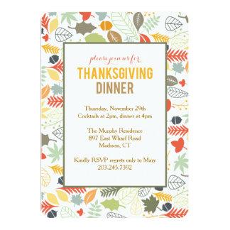 Thanksgiving Invitations - Fall Leaves