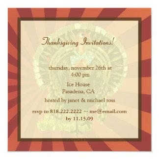 Thanksgiving invitations, retro thanksgiving
