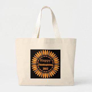 thanksgiving large tote bag