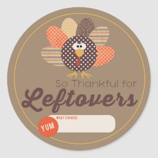 Thanksgiving Leftover Label Stickers