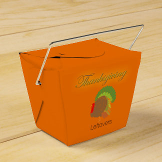 Thanksgiving Leftovers Take-Out Carton Favour Box
