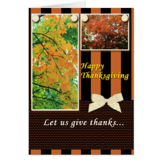 Thanksgiving Let Us Give Thanks Greeting Cards
