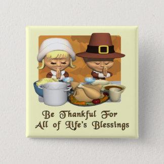 Thanksgiving: Life's Blessings 15 Cm Square Badge