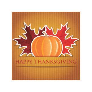 Thanksgiving maple and pumpkin canvas print