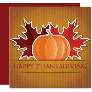 Thanksgiving maple and pumpkin card