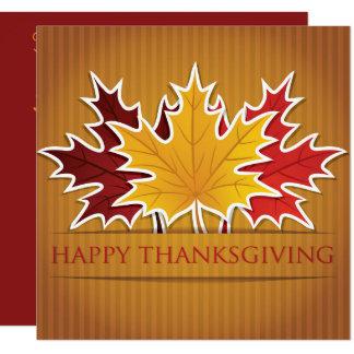 Thanksgiving maple leaf card