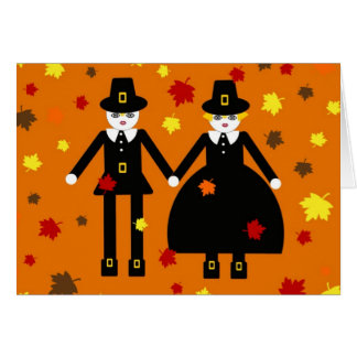 Thanksgiving Martzkin Pilgrim Card © 2012 M. Martz