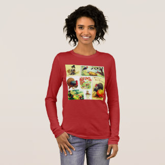Thanksgiving Medley Vintage Apparel Long Sleeve T-Shirt