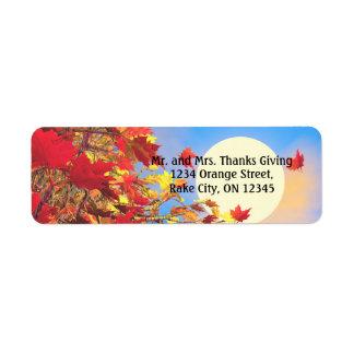 Thanksgiving Morning Return Address Label