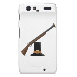 Thanksgiving Musket and Pilgrim Hat Capotain Motorola Droid RAZR Case