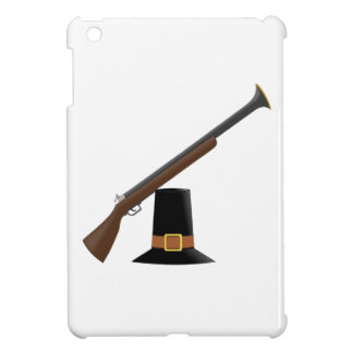 Thanksgiving Musket and Pilgrim Hat Capotain iPad Mini Covers