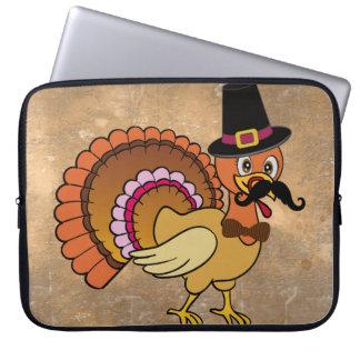Thanksgiving Mustache Turkey Laptop Computer Sleeves