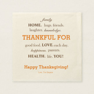 Thanksgiving napkins disposable serviettes