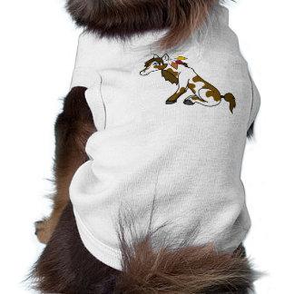 Thanksgiving Painted Horse with Turkey Feathers Sleeveless Dog Shirt