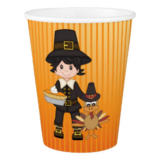 Thanksgiving Paper Cups/Pilgrim Paper Cup